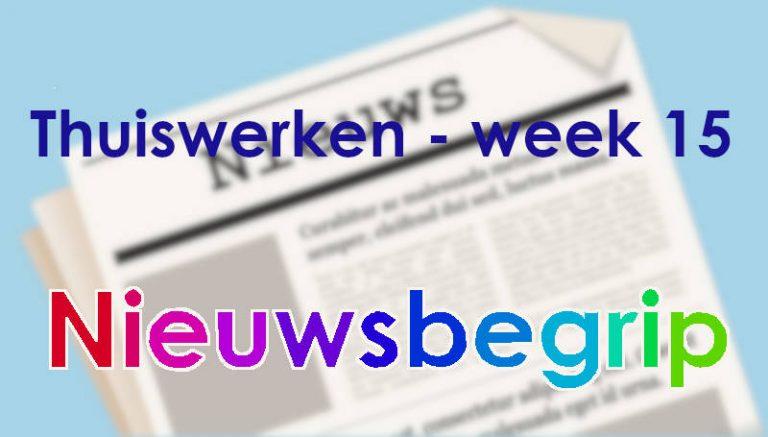 Nieuwsbegrip: Thuiswerken week 15