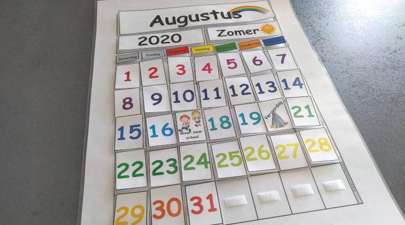 Kalender voor in de klas